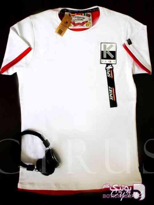 تیشرت قواره دارL.XL.2XL.3XL سفید تی شرت مردانه