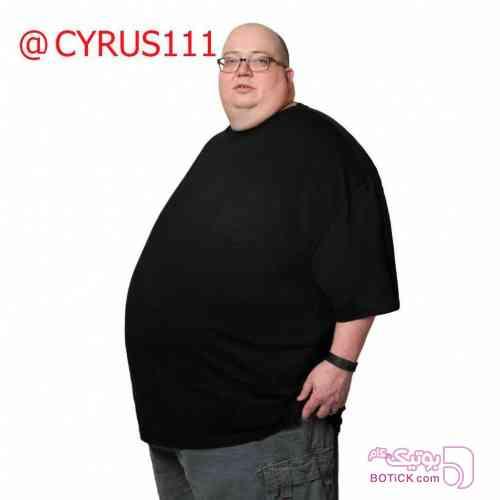 قواره بزرگ3.4.5. مشکی تی شرت مردانه