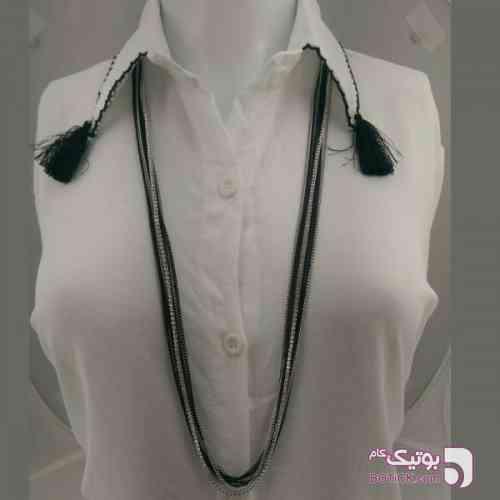 گردنبند رو مانتویی nc ۳۳ زرد گردنبند