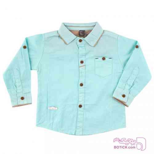 پیراهن پسرانه رنگ سبز آبی Z.A فیروزه ای لباس کودک پسرانه
