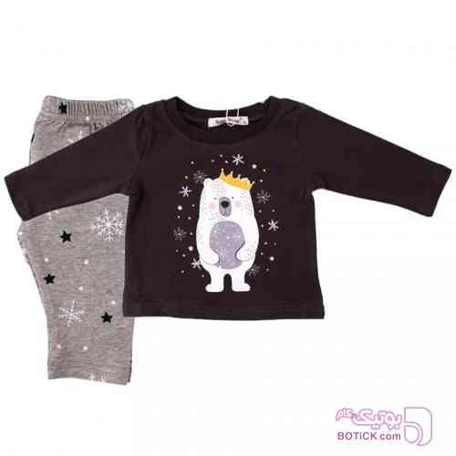 بلوز آستین بلند و شلوار Baby Shop مشکی لباس کودک پسرانه