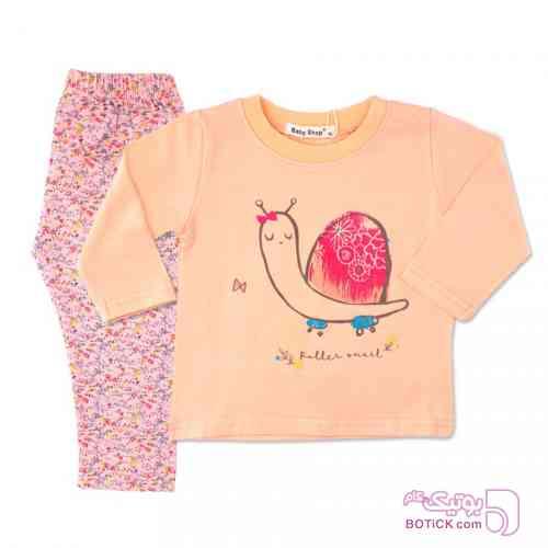 بلوز آستین بلند و شلوار Baby Shop کرم لباس کودک دخترانه