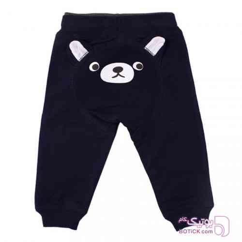 شلوار اسلش سرمه ای طرح خرس Baby Shop سورمه ای لباس کودک دخترانه