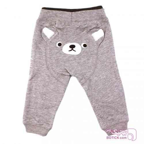 شلوار اسلش طوسی طرح خرس Baby Shop طوسی لباس کودک دخترانه