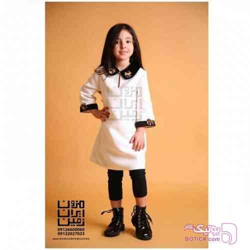 پیراهن دخترانه سفید لباس کودک دخترانه