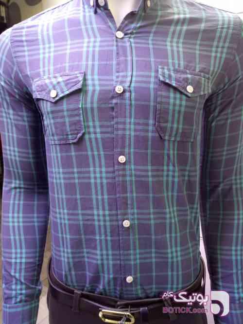 پیراهن  طوسی پيراهن مردانه
