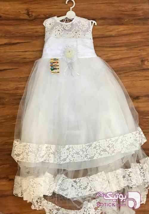 لباس عروس 3 کاپ سفید لباس کودک دخترانه