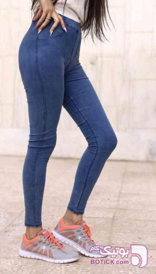 شلوار جیب نما  آبی شلوار زنانه