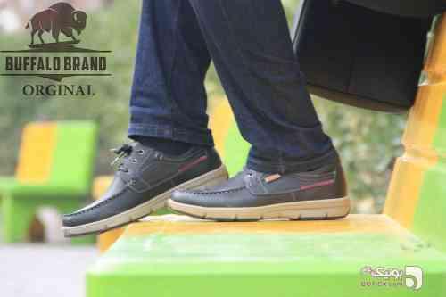 کفش تمام چرم مشکی كفش مردانه
