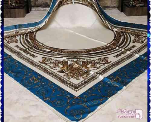روسری ابریشم متریال جدید  آبی شال و روسری