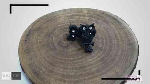 گوشواره جغد کوچک مشکی گوشواره