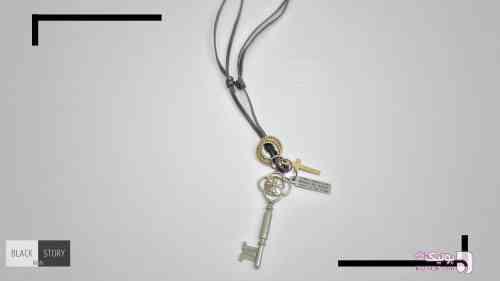گردنبند طرح کلید قهوه ای گردنبند
