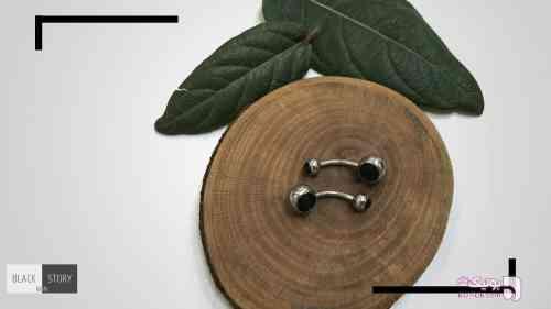 پیرسینگ نقره ای گوشواره
