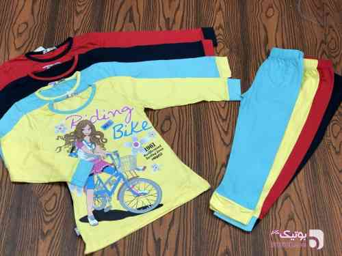 Girl bike زرد لباس کودک دخترانه