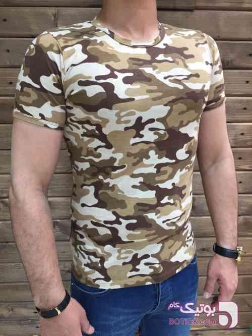 تی شرت مردانه کرم تی شرت مردانه