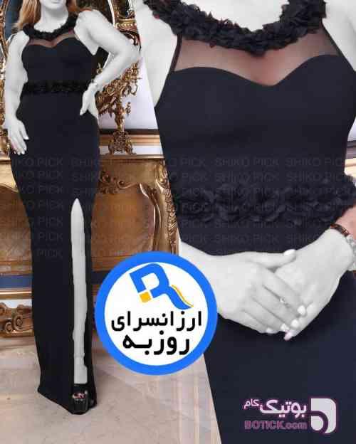 سارافون ماكسي مدل ویولت مشکی لباس  مجلسی