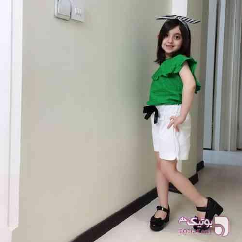 ست دو تیکه دخترانه سبز لباس کودک دخترانه