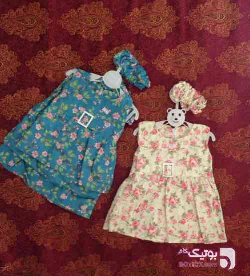 پیراهن دخترونه آبی لباس کودک دخترانه