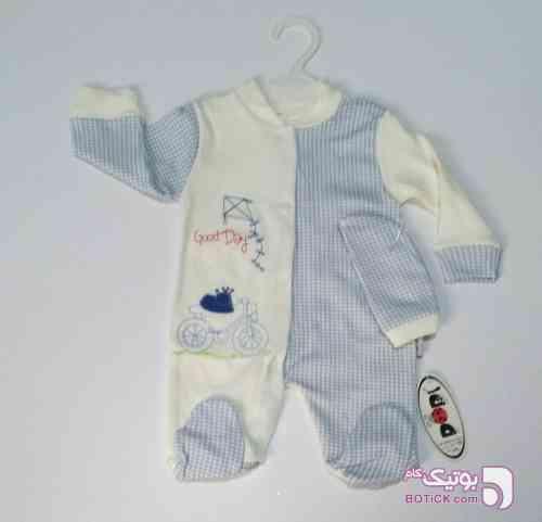 سرهمی نوزادی آبی لباس کودک پسرانه