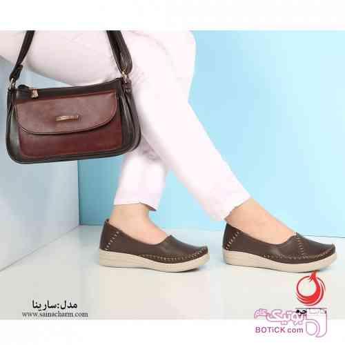 کفش مدل سارینا قهوه ای كفش زنانه