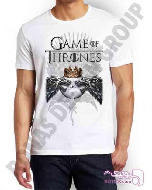طرح گیم آف ترونز سفید تی شرت مردانه