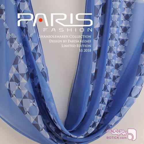 شال آينه هاي آبي طرح شماره ٢ آبی شال و روسری