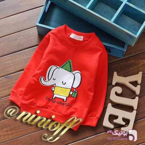 بلوز فیل قرمز لباس کودک پسرانه