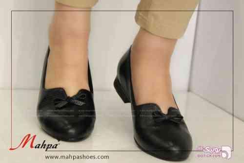 کفش چرم زنانه 407 سبز كفش زنانه