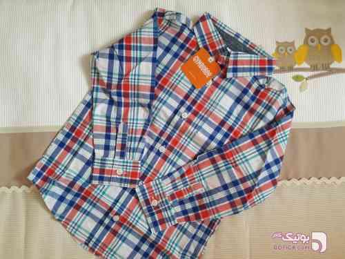 پیراهن آبی لباس کودک پسرانه