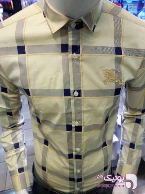 پیراهن چهار خونه سورمه ای پيراهن مردانه