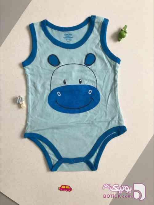 بادی پسرانه نخ پنبه آبی لباس کودک پسرانه