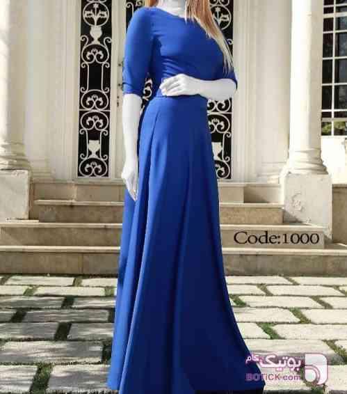 لباس مجلسی آبی لباس  مجلسی