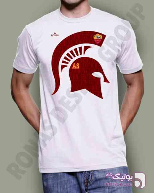 طرح تیم رم سفید تی شرت مردانه