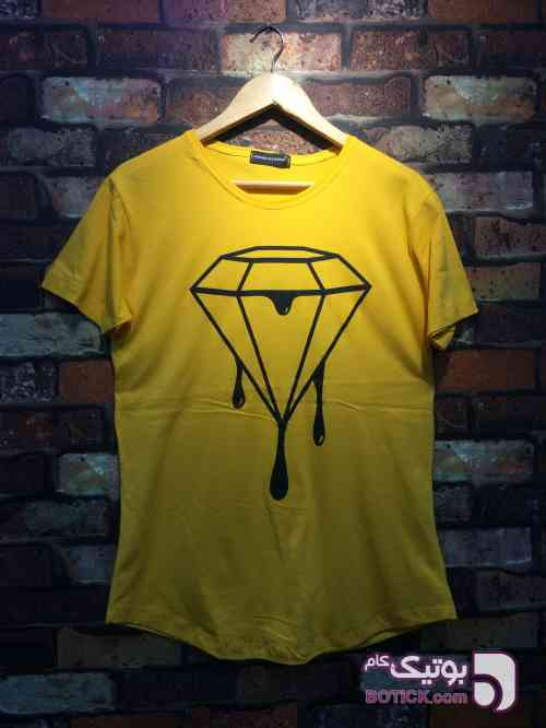 تيشرت نخ پنبه الماس زرد تی شرت مردانه