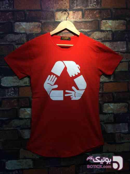 تيشرت نخ پنبه كارما قرمز تی شرت مردانه