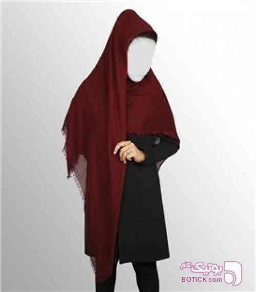 روسری ساده زنانه زرشکی شال و روسری