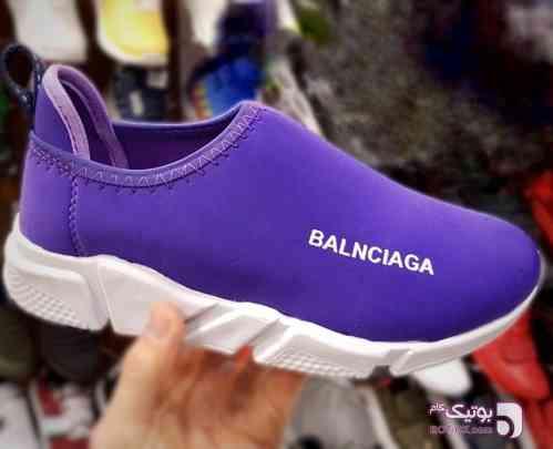 کتانی راحتي دخترانه Balnciaga بنفش كتانی زنانه
