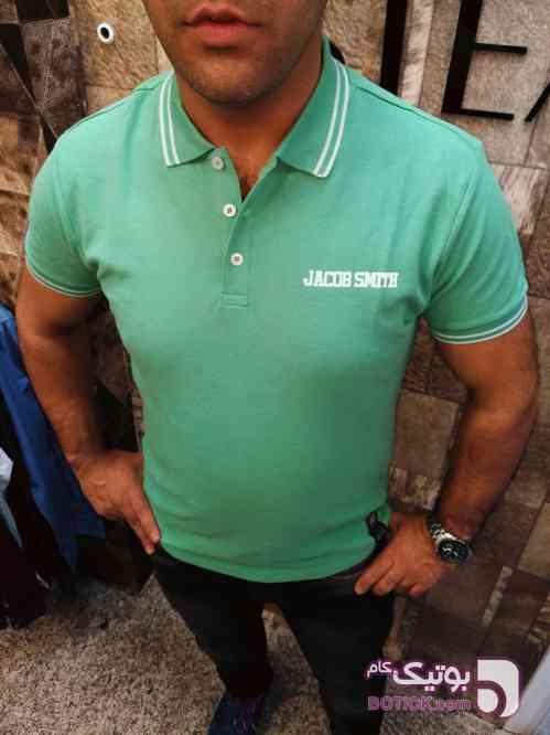 تیشرت یقه دار  سبز تی شرت مردانه