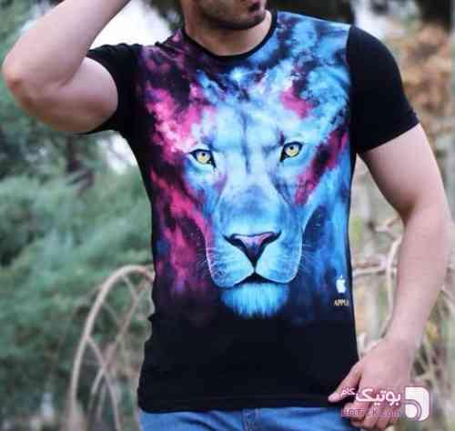 تيشرت پسرانه Lion مشکی تی شرت مردانه