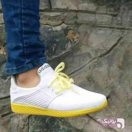 Adidas كفش مردانه زرد كتانی مردانه