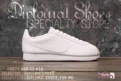Nike cortez سفید كتانی مردانه