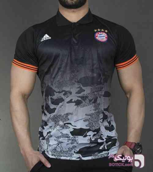 پولو شرت هواداری بایرن مونیخ مشکی تی شرت مردانه