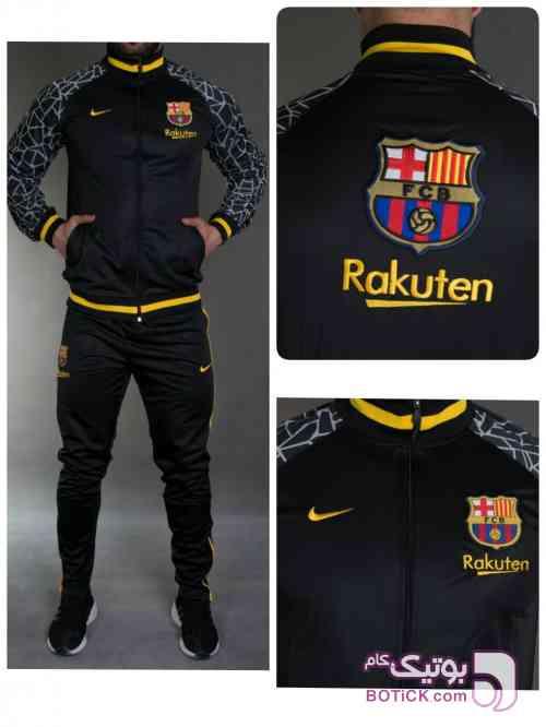 ست ورزشی بارسلونا  مشکی ست ورزشی مردانه