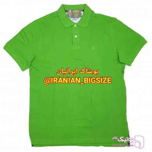 تیشرت سایز بزرگ 3دکمه سبز تی شرت مردانه