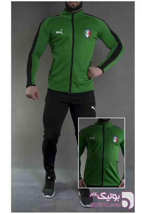 ست سوئی شلوار ایتالیا  سبز ست ورزشی مردانه