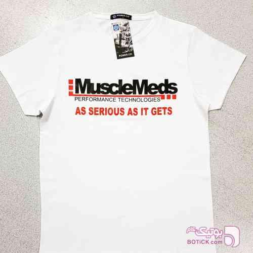 تیشرت حرفه ای MuscleMeds سفید تی شرت مردانه