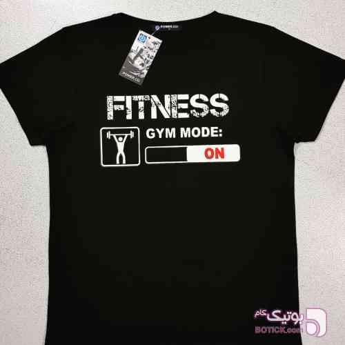 تیشرت حرفه ای FITNESS مشکی تی شرت مردانه