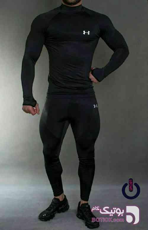 ست ورزشی استرج آندر آمور  مشکی ست ورزشی مردانه