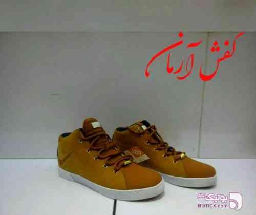 کفش نایک لبرون قهوه ای كفش مردانه