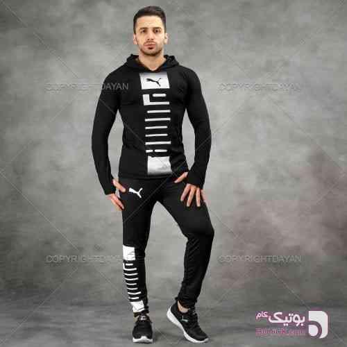 ست سویشرت و شلوار Puma مدل Hamero مشکی ست ورزشی مردانه